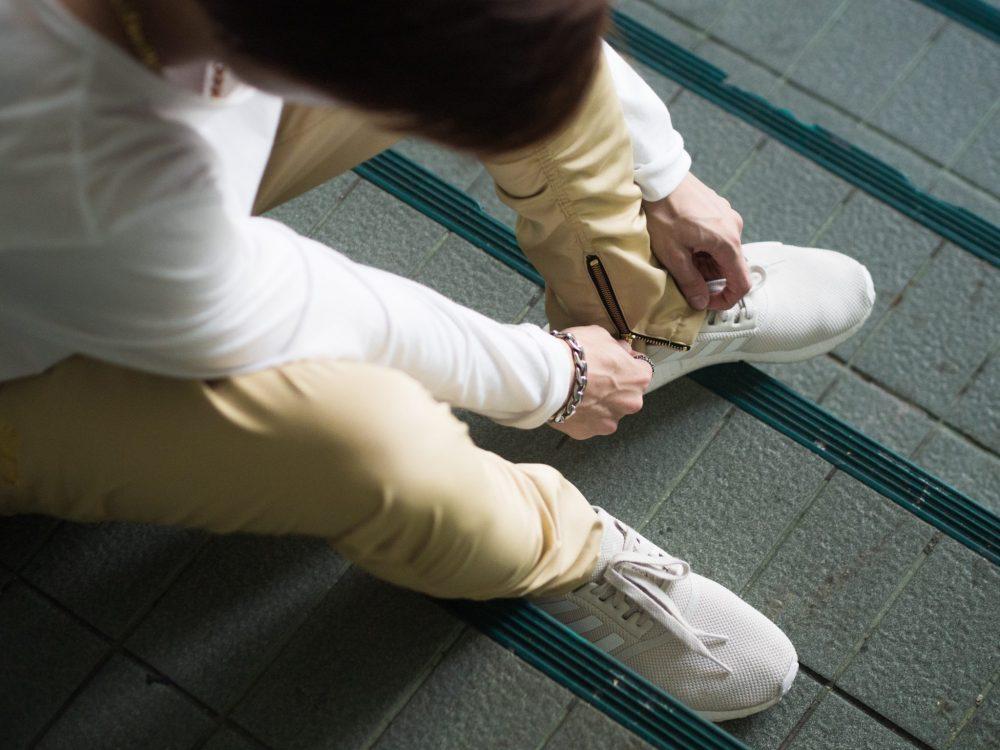 zip pantaloni